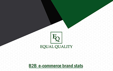B2B e-commerce brand stats