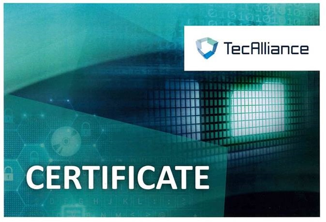 TecAlliance Certificate
